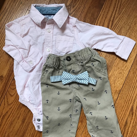 Carter's Other - Carter's Shirt with Bowtie &  Pants Set